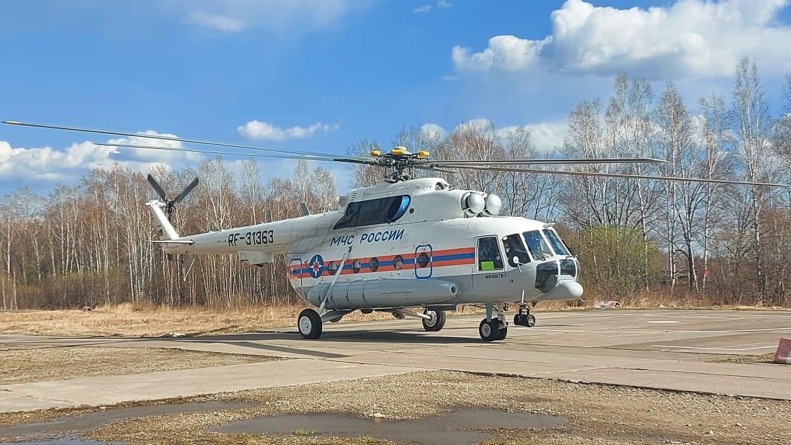 Новорождённый ребенок был доставлен санитарной авиацией МЧС России  из Биробиджана в перинатальный центр Хабаровска