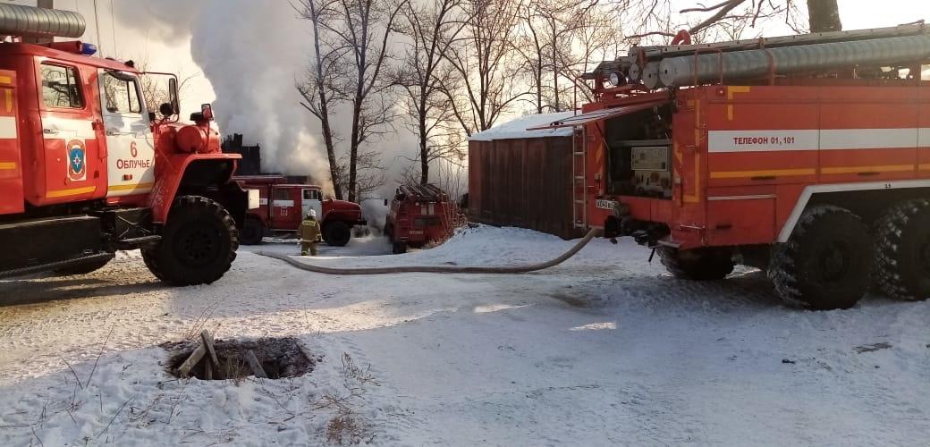 Теплоозёрский пожар в деревянной двухэтажке ликвидирован