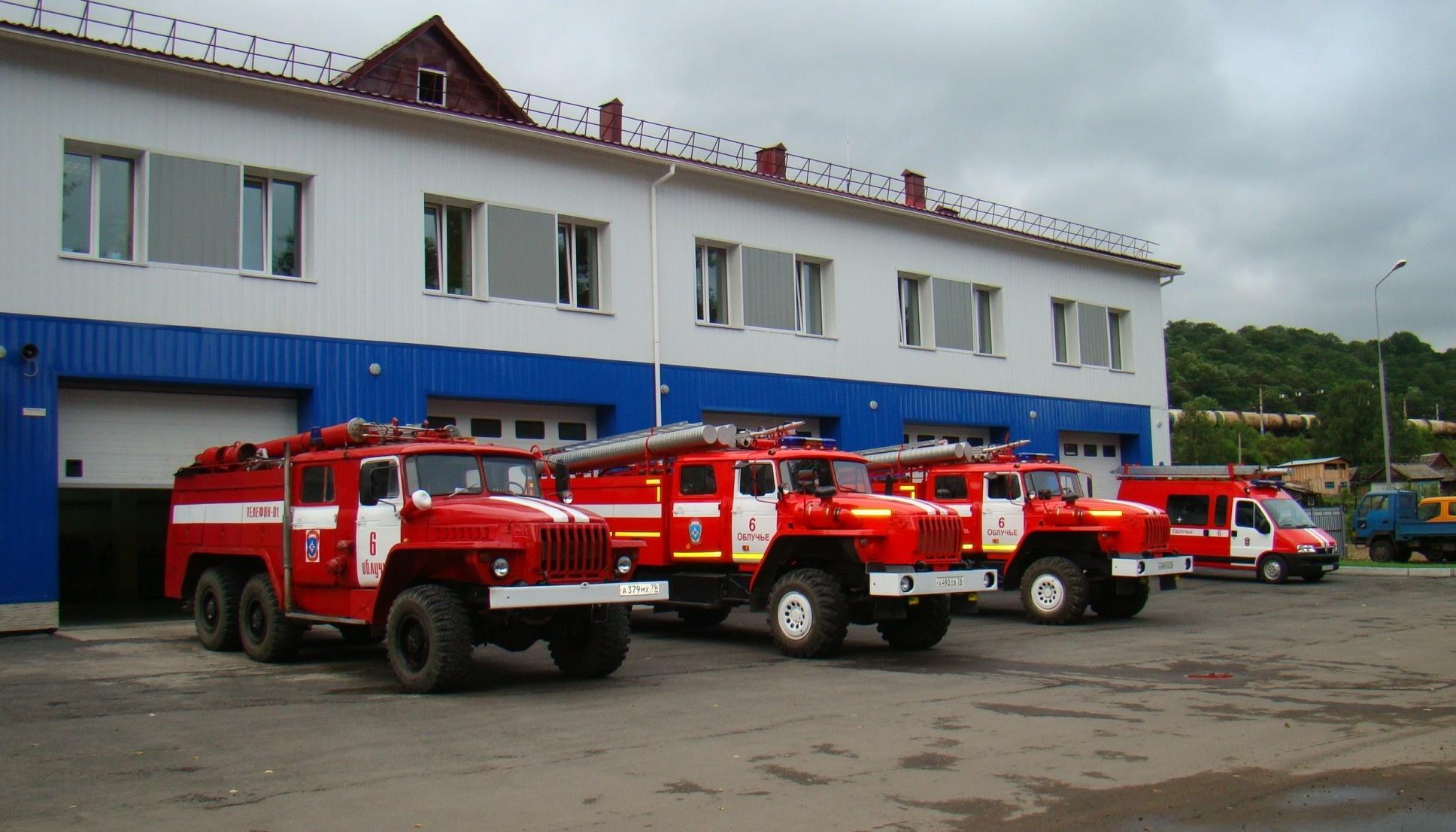 Пожарные расчеты уберегли от пожара жилой дом в г. Облучье