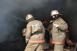 Заброшенный дом тушили огнеборцы в Облученском районе